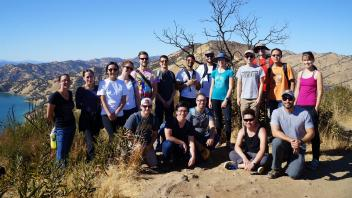 Student-organized hiking trip around Lake Berryessa