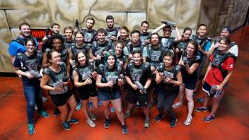 Summer laser tag excursion with staff members Minh and Brad