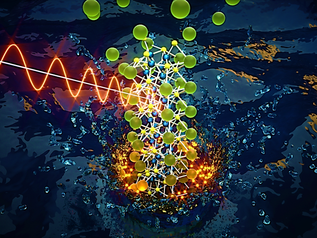 Cover image showing microwave-induced 1-dimensional growth of a compositionally modular pseudo-Chevrel-Phase chalcogenide nanorod framework