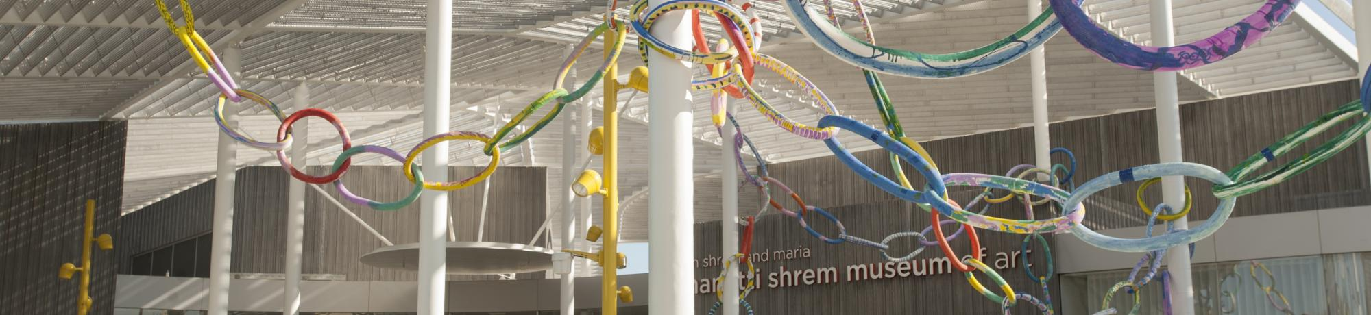 The ribbon chain on the Jan Shrem and Maria Manetti Shrem Museum on November 9, 2016.